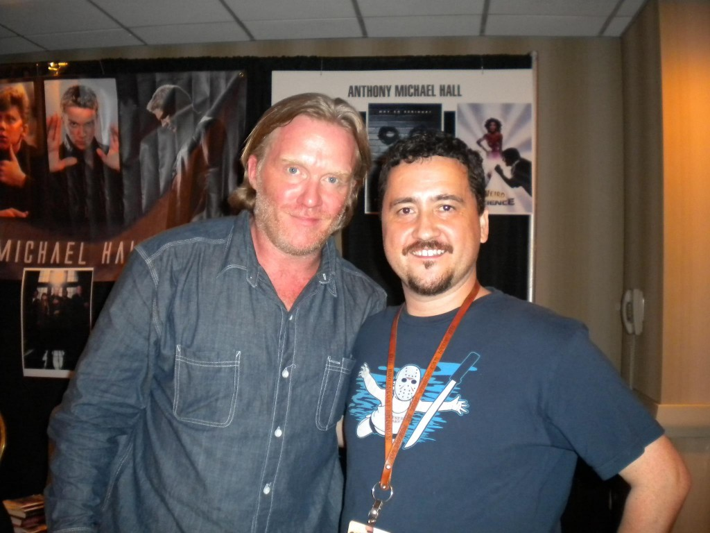 A picture of me and actor Anthony Michael Hall
